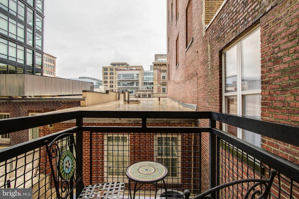 Balcony #2 off of master bedroom - 912 F ST NW #408, WASHINGTON