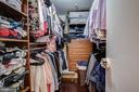 Walk in closet with custom shelving in master - 912 F ST NW #408, WASHINGTON