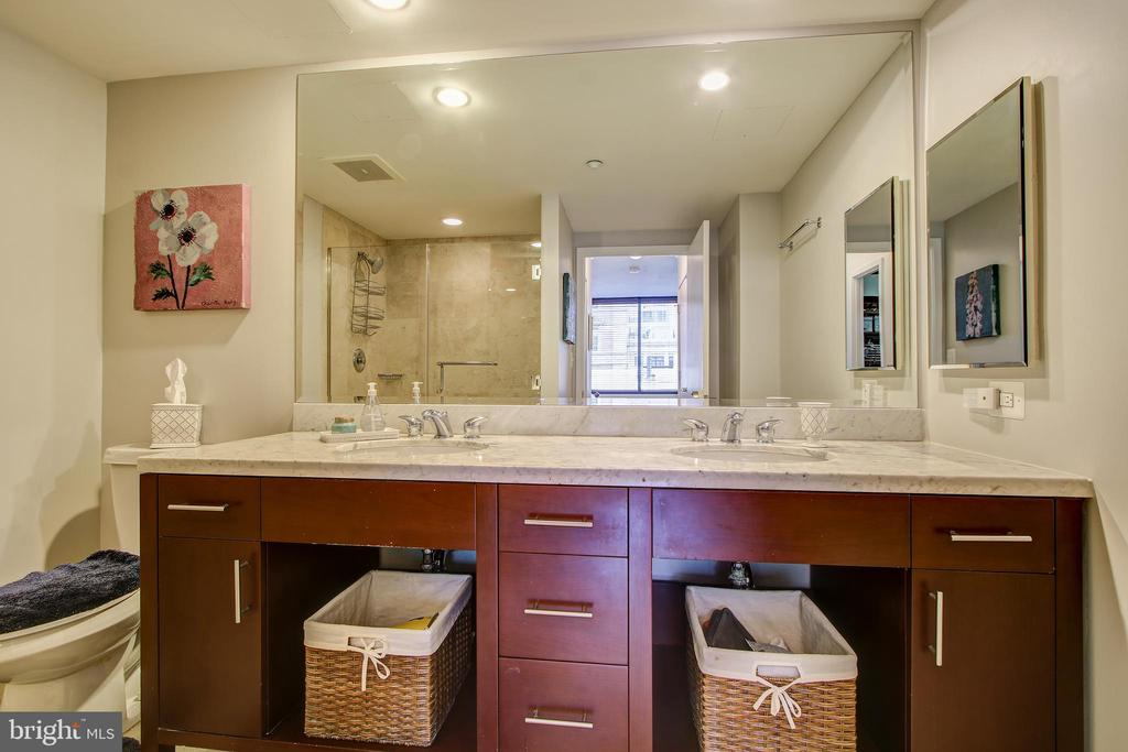 Master bath with dual vanities - 912 F ST NW #408, WASHINGTON