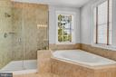 Frame less glass master shower - 42636 EMPEROR DR, BRAMBLETON