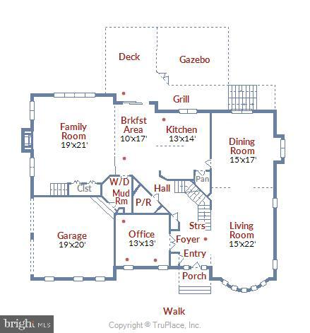 Main Level Floorplan - 11329 STONEHOUSE PL, POTOMAC FALLS
