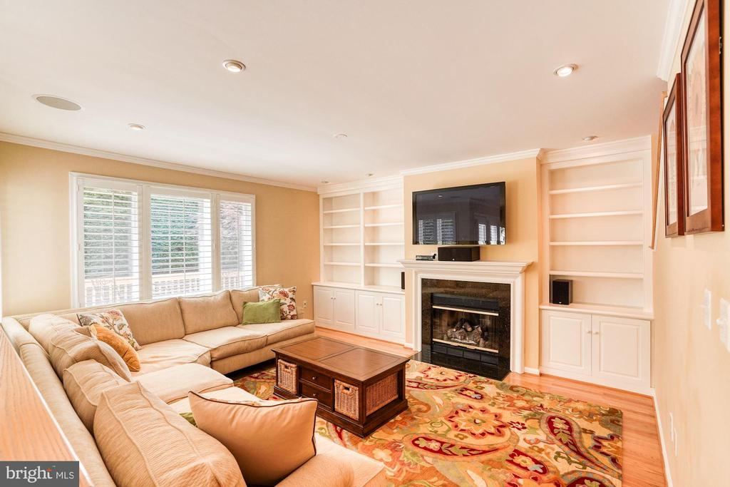 Family Room, Built In Bookshelves and Cabinets - 1308 PAVILION CLUB WAY, RESTON