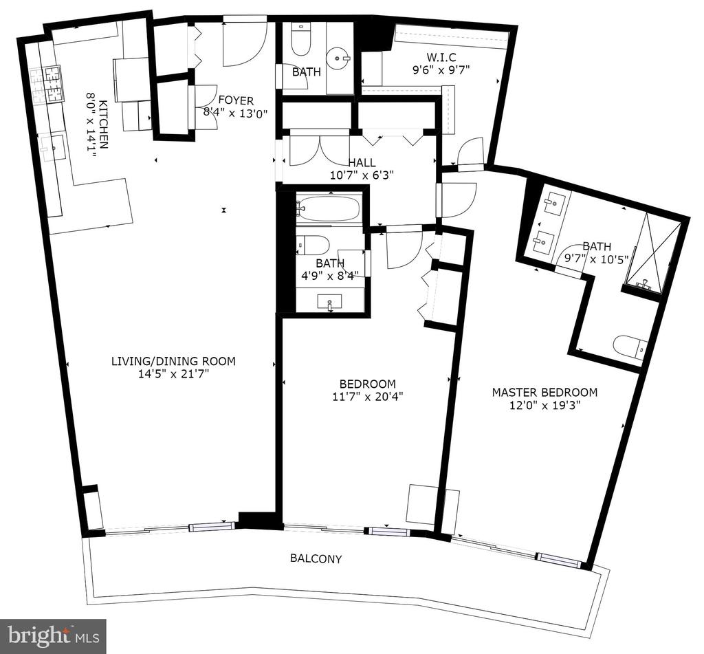 Floor plan is approximate. - 700 NEW HAMPSHIRE AVE NW #801, WASHINGTON