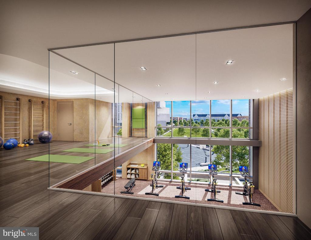 Double level fitness center overlooking the park. - 1781 PIERCE ST N #2401, ROSSLYN