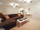 Spacious rec room in finished basement - 6218 GENTLE LN, ALEXANDRIA