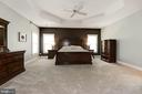 Master bedroom w/another upgraded tray ceiling! - 11594 CEDAR CHASE RD, HERNDON