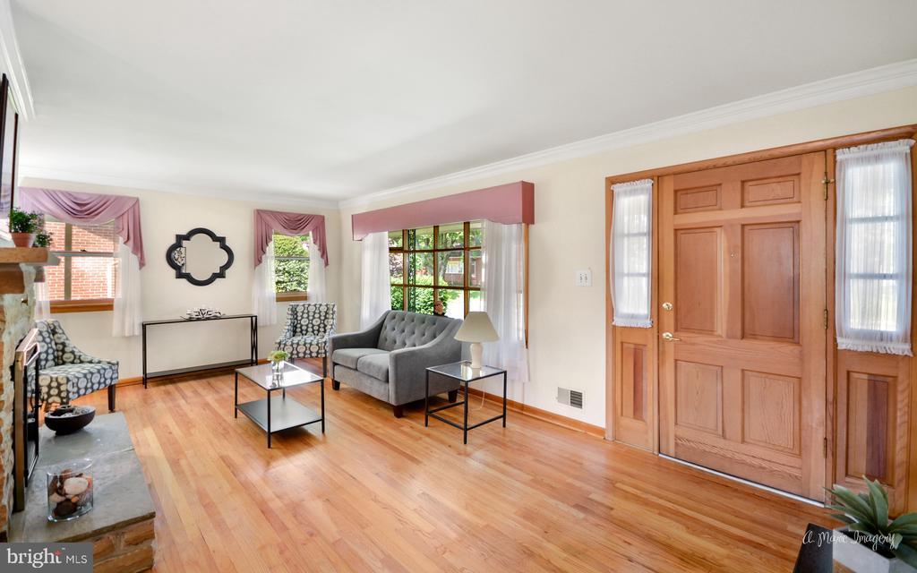 Living room beautiful hardwood flooring - 404 CULLER AVE, FREDERICK