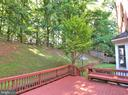 Backyard deck view - 6905 RANNOCH RD, BETHESDA