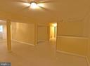 Basement  entertaining /exercise area - 6905 RANNOCH RD, BETHESDA