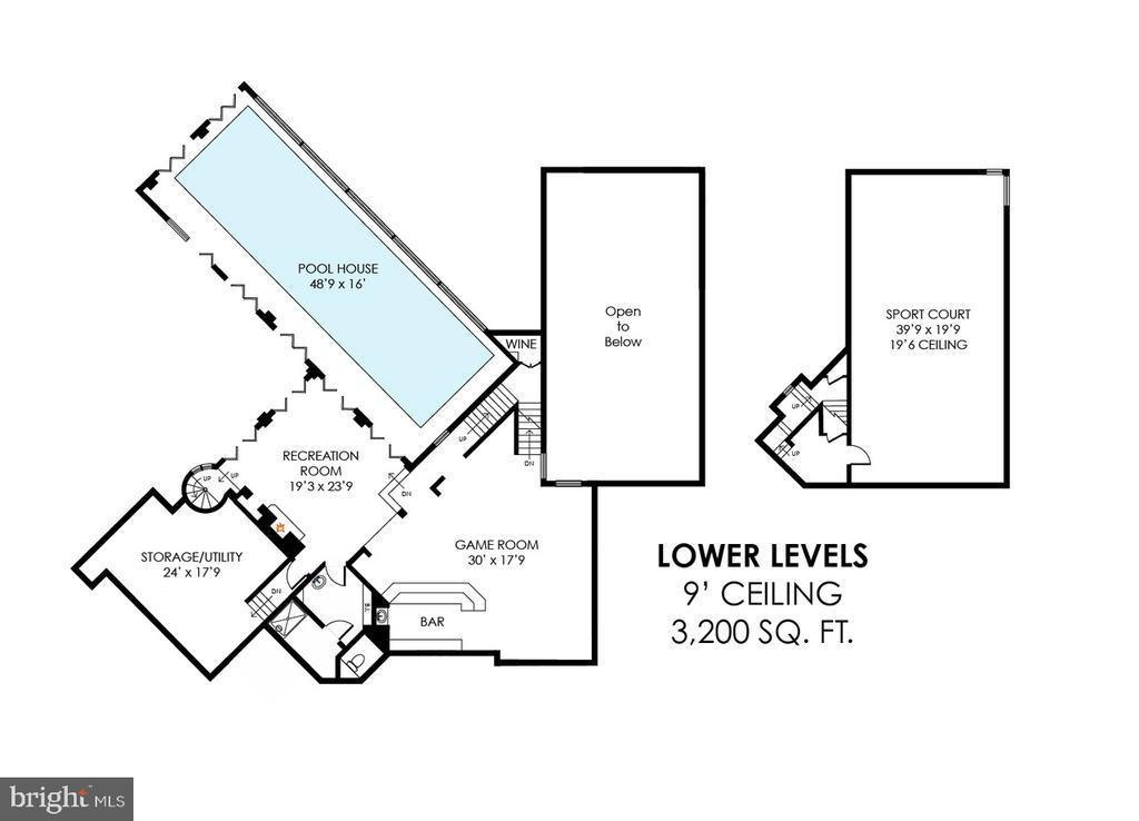 Lower Level Floor Plan - 40850 ROBIN CIR, LEESBURG