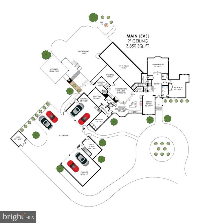 Main Level Floor Plan - 40850 ROBIN CIR, LEESBURG