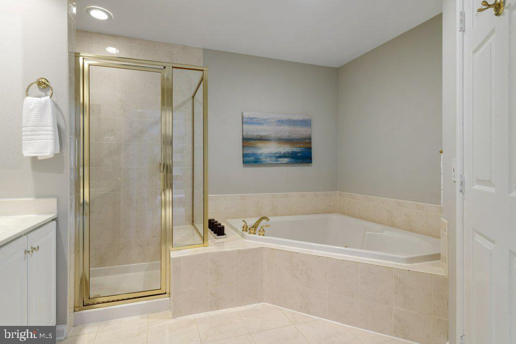 Master bath w/soaking tub, shower and water closet - 405 S HENRY ST, ALEXANDRIA