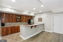 Basement wet bar/kitchenette - 11418 WAPLES MILL RD, OAKTON
