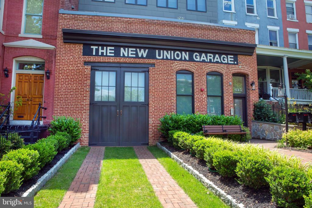 Historic Facade of The New Union Garage - 645 MARYLAND AVE NE #201, WASHINGTON
