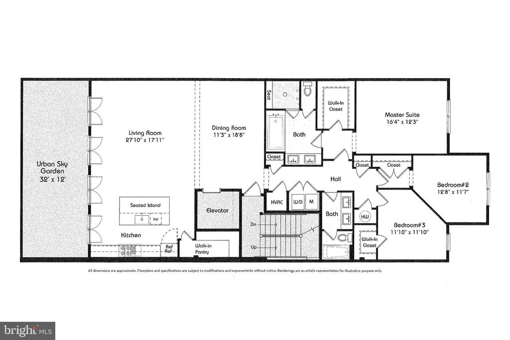 Floor Plan of Unit 201 - 645 MARYLAND AVE NE #201, WASHINGTON