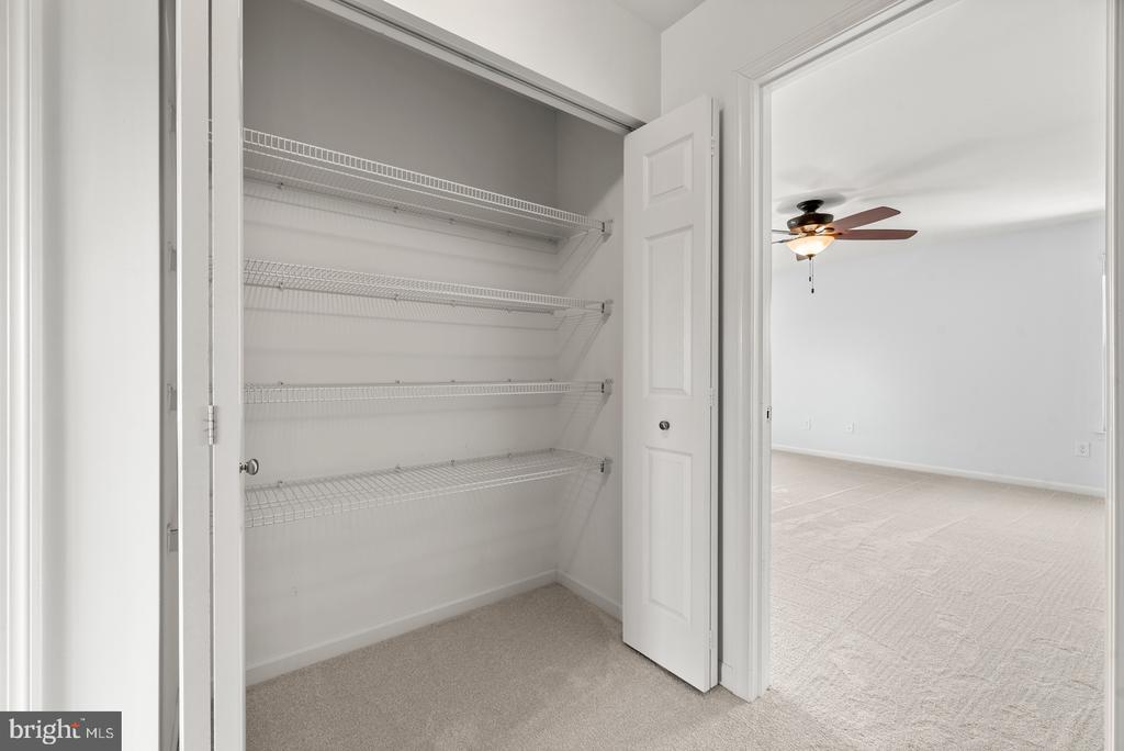Large hall closet - 41 TOWN CENTER DR, LOVETTSVILLE