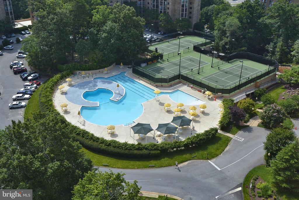 Outdoor pool, 3 tennis courts - 5902 MOUNT EAGLE DR #609, ALEXANDRIA