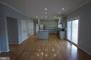Breakfast area with sliding glass door to deck - 6311 WILLOWFIELD WAY, SPRINGFIELD