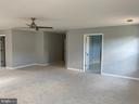 Master Bedroom w/NEW carpet and fan light - 6311 WILLOWFIELD WAY, SPRINGFIELD