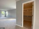 Master Bedroom closet with NEW carpet - 6311 WILLOWFIELD WAY, SPRINGFIELD