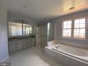 Master Bathroom with New recessed lighting - 6311 WILLOWFIELD WAY, SPRINGFIELD