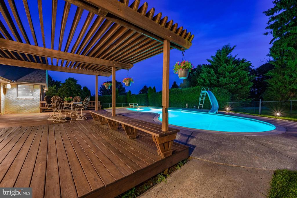 EVENINGS BY THE POOL AS THE SUN SETS IN THE WEST - 6914 SUMMERSWOOD DR, FREDERICK