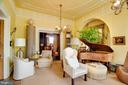 Music room with view to library - 8394 ELWAY LN, WARRENTON