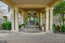 Front entrance porch with original Tiffany glass - 8394 ELWAY LN, WARRENTON