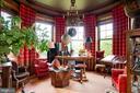 Library sitting room with 5 massive windows - 8394 ELWAY LN, WARRENTON