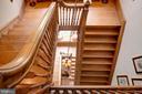 Main stairway view from 3rd floor - 8394 ELWAY LN, WARRENTON