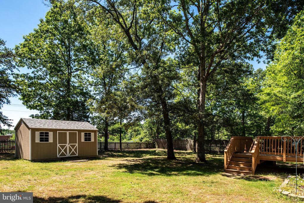 Large Flat Fenced In Backyard - 3611 ALBERTA DR, FREDERICKSBURG