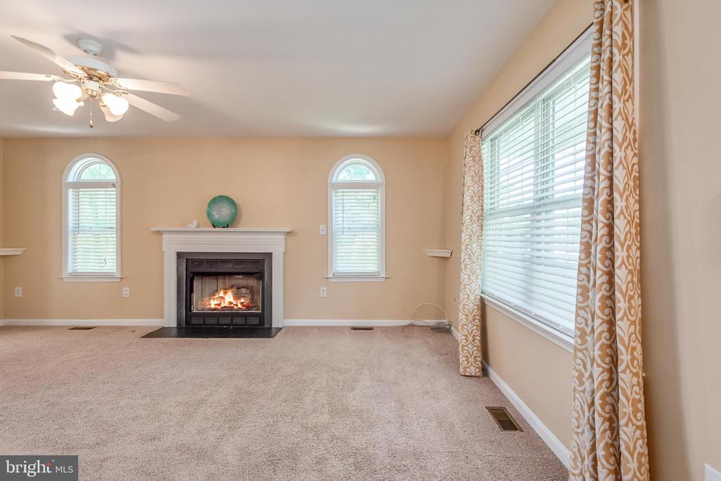 Large Family Room with a Gas Fireplace - 3611 ALBERTA DR, FREDERICKSBURG