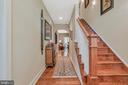 Foyer with wide plank hardwood floors - 92 EARLE RD, CHARLES TOWN