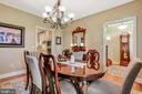 Formal Dining Room with Hall view - 92 EARLE RD, CHARLES TOWN