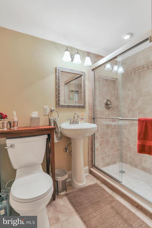 Lower level bath - 92 EARLE RD, CHARLES TOWN