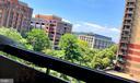 Balcony view of the city. - 400 MADISON ST #607, ALEXANDRIA