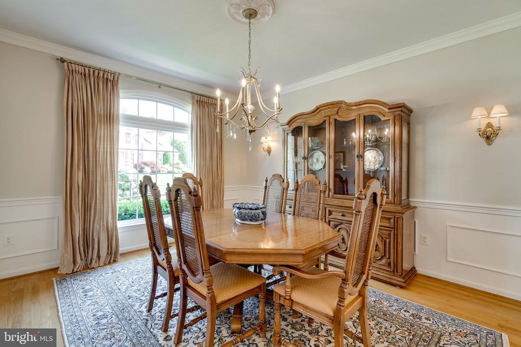 Formal Dining Room with Hardwood Floors - 8523 SILVERVIEW DR, LORTON