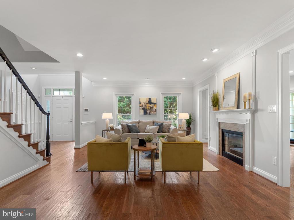 Living Room w/ Fireplace - 13716 SAFE HARBOR CT, ROCKVILLE