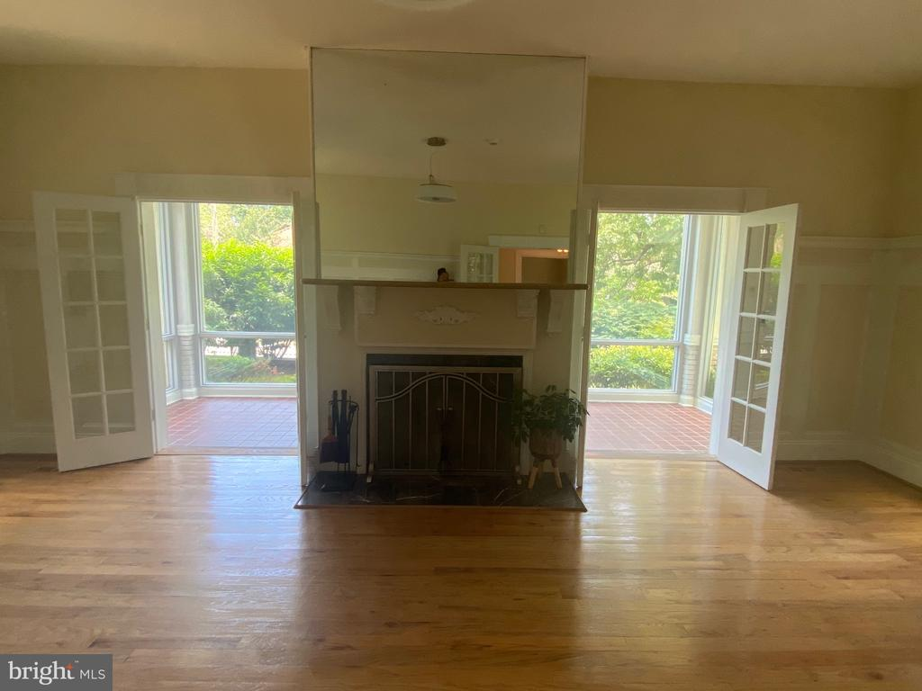 Formal Living Room with wood burning fireplace - 6320 BALTIMORE AVENUE, UNIVERSITY PARK