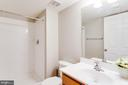Full bath in basement! - 55 POTTERFIELD DR, LOVETTSVILLE