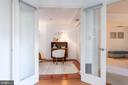Glass doors to second bedroom/study - 1150 K ST NW #411, WASHINGTON