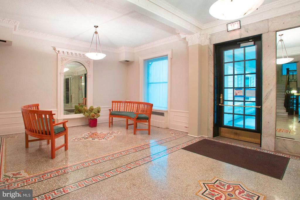 Lobby w/mosaic tile work and carved crown molding - 2153 CALIFORNIA ST NW #306, WASHINGTON