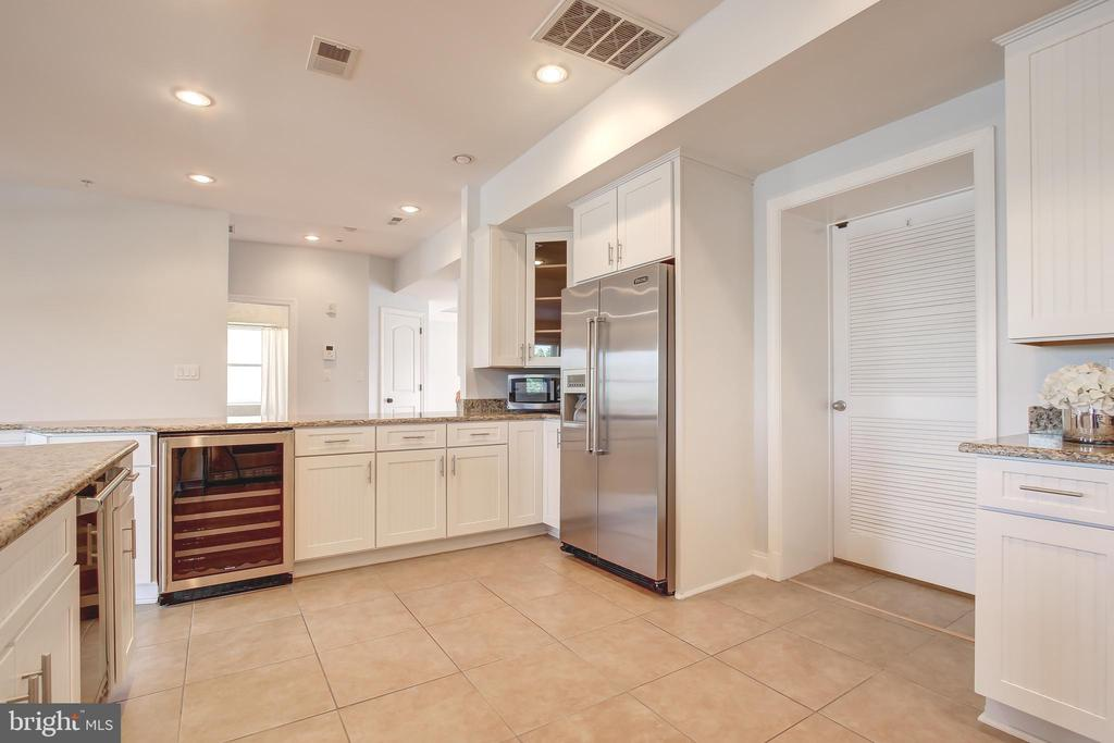Chef's Kitchen with Wine Fridge - 5511 COLORADO AVE NW #501, WASHINGTON