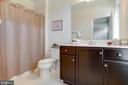 Full Bath  in 1st Bedroom on Main Entrance Level - 23109 COTTONWILLOW SQ, BRAMBLETON