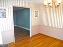 View Dining Room to Living Room, refinished floors - 9894 PAR DR, NOKESVILLE