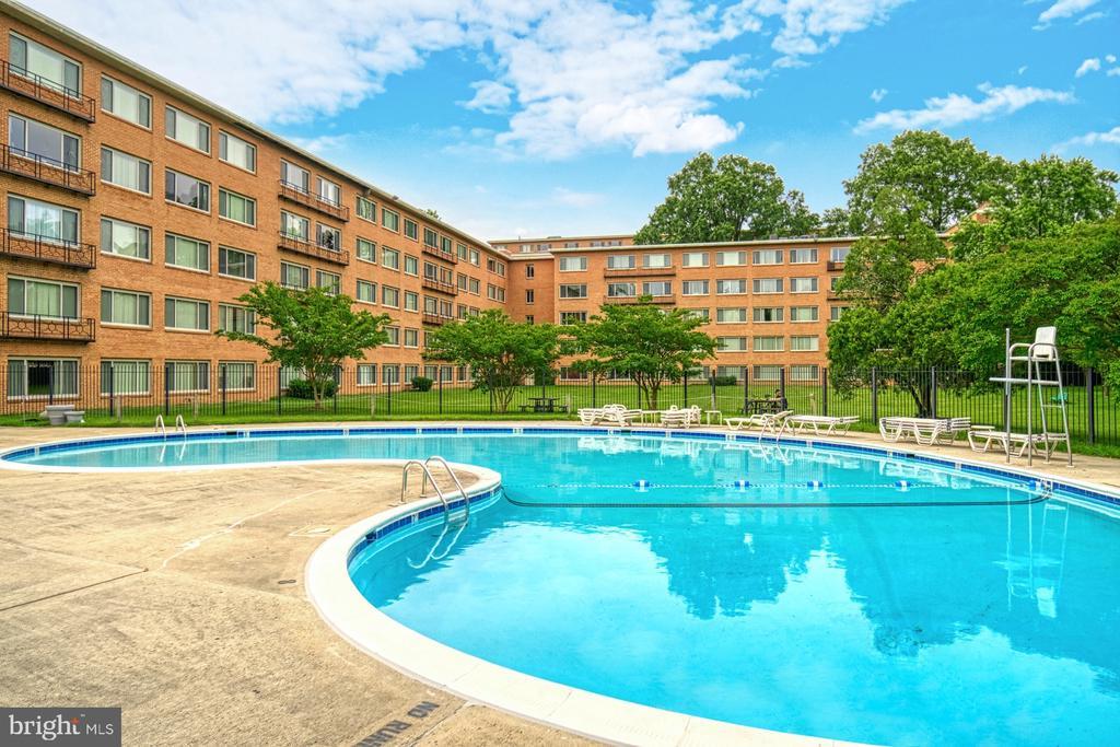 Community outdoor pool - 10570 MAIN ST #325, FAIRFAX