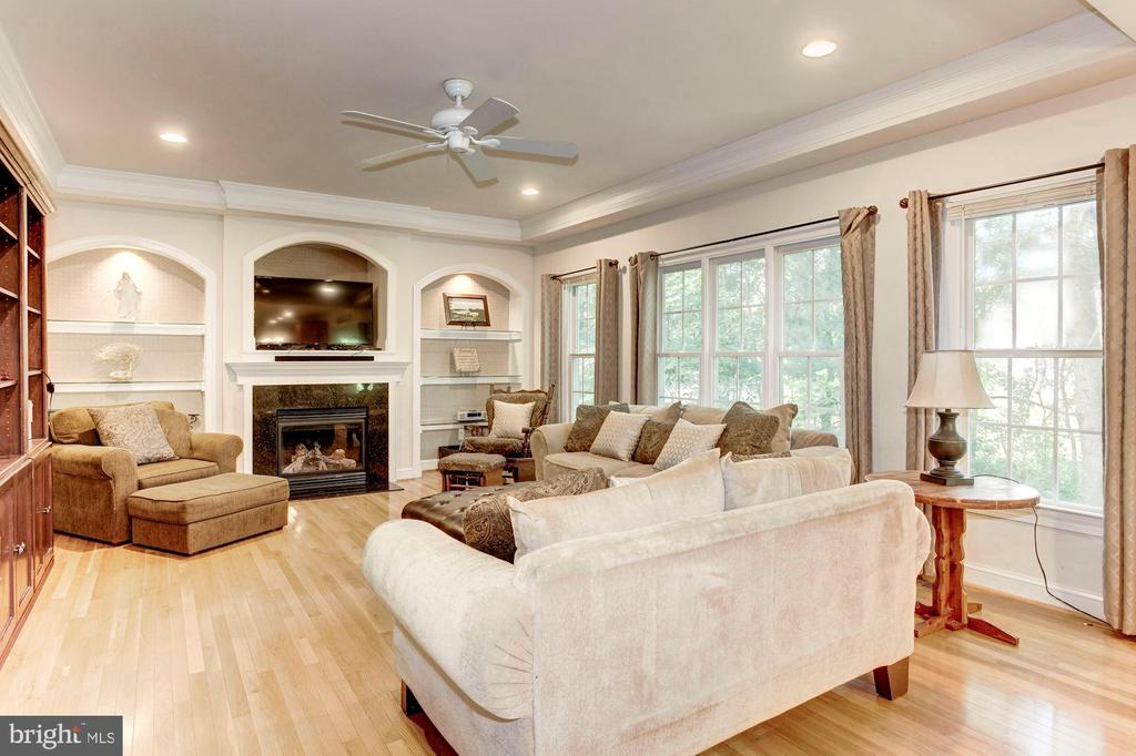 Great Family Room w/built-ins and plenty of light - 16215 CYPRESS CT, DUMFRIES