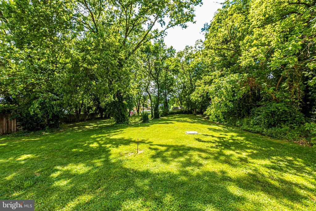 Spacious backyard with mature landscaping. - 4110 SHADY LN, KNOXVILLE