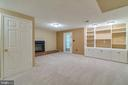 Walk-out Basement Family Room with Built-ins - 15415 BEACHWATER CT, DUMFRIES