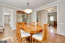 wainscoting and crown and case molding - 3401 N KENSINGTON ST, ARLINGTON